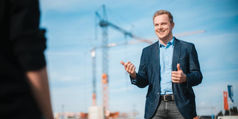 """Politisches Thema """"bezahlbaren Wohnraum schaffen"""" von Matthias Krauses Wahlkampf"""